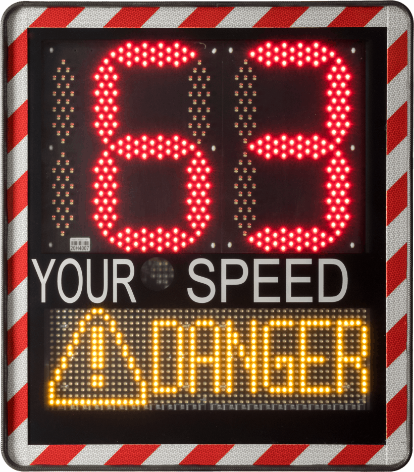 Digital speed sign